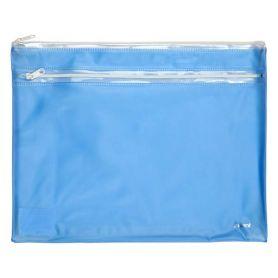 Папка пластикова А-4 на блискавці Axent 2 відділення прозора блакитна
