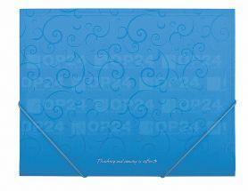 Папка пластикова А-5 на гумці Buromax Barocco блакитна