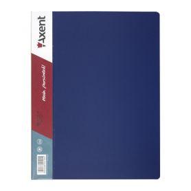 Папка пластикова А-4 2 кільця 25мм 2 кишені Axent синя