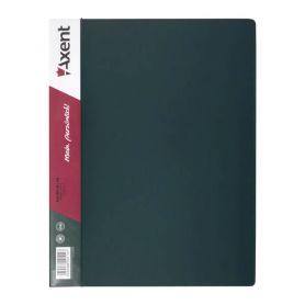 Папка пластикова А-4 2 кільця 25мм 2 кишені Axent зелена