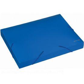 Папка-бокс пластикова А-4 на гумці 40мм Economix синя