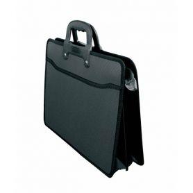 Портфель пластиковий А-3 2від. на блискавці, чорний Datum