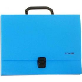 Портфель пластиковий А-4 1від. пластиковий замок, блакитний Economix