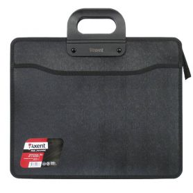 Портфель пластиковий В-4 3від. на блискавці, чорний Axent