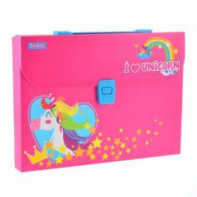 Портфель пластиковий А-4 1від. пластиковий замок Magic unicorn 1Вересня