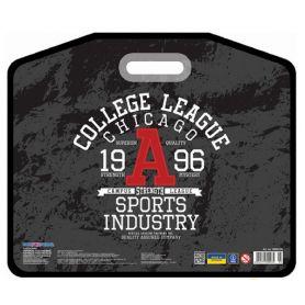 Портфель пластиковий А-3 1від. на липучці, внутр. кишеня, врізні ручки Cool for school College League