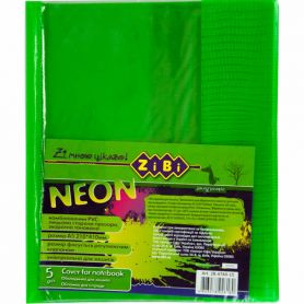 Обкладинка для зошита neon PVC салатова ZіBі