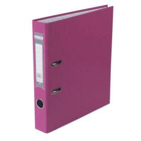 Папка-реєстратор А-4 50мм PP Buromax одностороннє покриття рожева