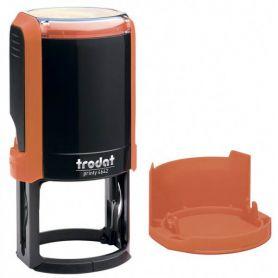 Оснастка Trodat до круглої печатки D-42 Printy, пластик, з ковпачком помаранчевий неон