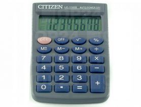 Калькулятор Citizen 8р карм.бат.живлення, рез.клавіатура 58х87х12мм