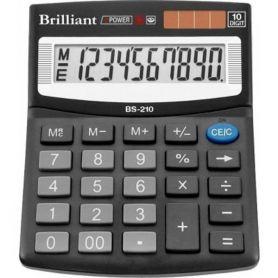 Калькулятор Brilliant 10р. бухг. 2ел. живлення 124х100х33мм
