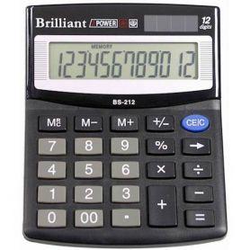 Калькулятор Brilliant 12р. бухг. 2ел.живлення 124х100х33мм