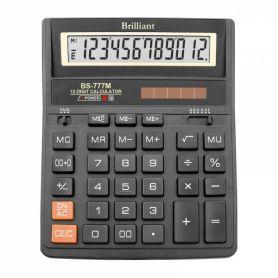 Калькулятор Brilliant 12р бухг. 2эл.живлення, алюм.кришка 205х159х15мм