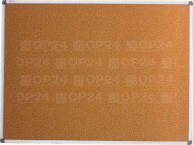 Дошка коркова 90х120см алюмінієва рамка BuroMax