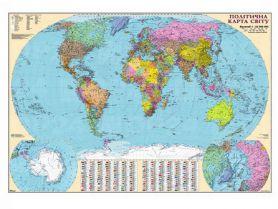 Карта Світу Політична М1:22 000 000 160х110см картон/лак