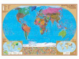 Карта Світу Політична М1:35 000 000 100х70см ламінація