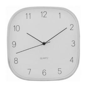 Годинник Optima настінний квадратний срібний металевий 290*290