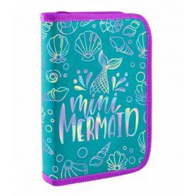 Пенал YES 1відділення, без наповнення, Mermaid, 21х13х3см