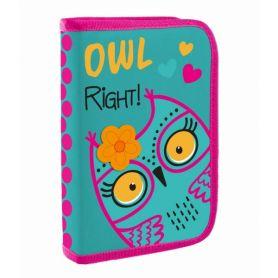 Пенал 1Вересня 1відділення, без наповнення, Owl