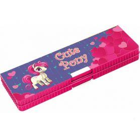 Пенал CFS пластиковий на магніті 2відділення фіксатор для олівців, Cute Pony