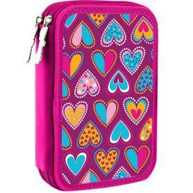 Пенал Smart 1відділення, без наповнення, Heart Style, рожевий