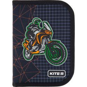 Пенал Kite Education Motocross 1відділення, 2 розворота, з наповненням, 19,5х13х3,7см