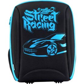 Рюкзак Kite  EVA Brooklyn racer  2 відділення, ортопедична спинка, 2 кишені, органайзер,чорний