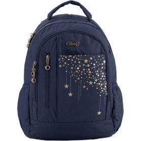 Рюкзак Kite Beauty 1 відділення, ущільнена спинка, 2бічні, 3передні кишені, темно-синій