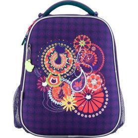 Рюкзак Kite  EVA Catsline 2 від., ортопед.спинка, 2кишені, органайзер, фіолетовий