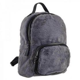 Рюкзак-сумка Yes Weekend 1від., 1передня кишеня, 32х23х15см сіре хутро