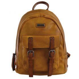 Рюкзак-сумка Yes Weekend 1відділення, 1передня кишеня, 33х28х15см гірчичний