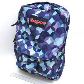 Рюкзак міський Кружечки 1 відділення, м'яка.спинка, 1передня кишеня