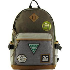 Рюкзак GoPack GO 135-1 1відділення, ущільнена спінка, 2бічні, 1передня кишені