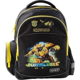 Рюкзак Kite Transformers BumbleBee Movie 1 відділення, ортопедична спинка, 2 бічні, 1передня кишеня