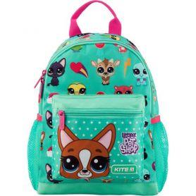 Рюкзак дошкільний Kite Littlest Pet Shop 1 відділення, ущільнена спинка, 2 бокові, 1 передня кишені
