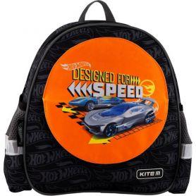 Рюкзак дошкільний Kite Hot Wheels 1 відділення, ущільнена спинка, 2 бокові, 1 передня кишеня