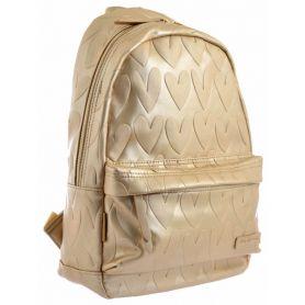 Рюкзак-сумка Yes Weekend Golden Heart 1 отделение, 1 передний карман, 39х23,5х11см золото