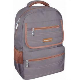 Рюкзак CFS Сlassic Grey 1 відділення, ортопедична спинка, 2бічні, 3 передні кишені