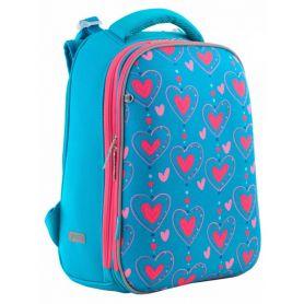Рюкзак 1Вересня EVA Romantic hearts 2 відділення, ортопедична спинка, Laptop-кишеня, органайзер