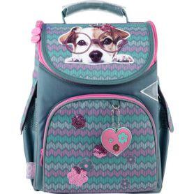 Рюкзак GoPack Education Sweet puppy каркас 1 відділення, ортопедична спинка, 2бічні, 1передня кишені