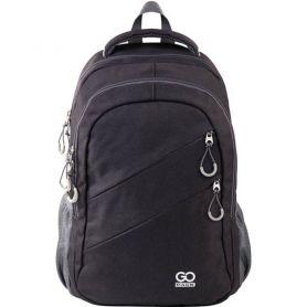 Рюкзак GoPack City 110-2, 2відділення, анатомічна спинка, 2 бічні, 2 пердні кишені, чорний