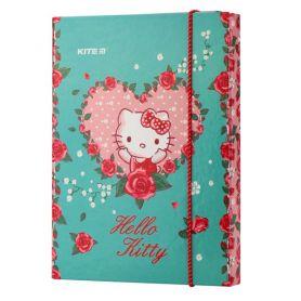 Папка для зошитів В-5 картон на гумці Hello Kitty Kite