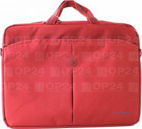"""Сумка для ноутбука Continent 40х30x4, червоний, нейлон/поліестер, 15,6"""""""