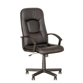 Крісло Omega сіре шкіра
