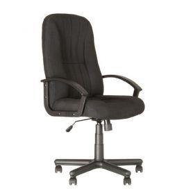 Крісло Classic пласт. підлок., пласт.хрестов., чорне, тканина
