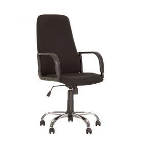 Крісло Diplomat пласт. підлок., пласт.хрестов., сіре, тканина