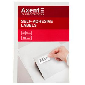 Етикетка самоклейка 02шт 210x148,5мм 100арк Axent