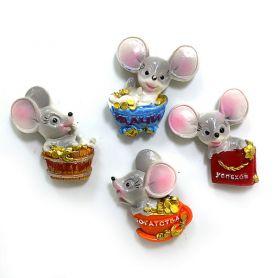 Мишка магніт кераміка З побажаннями асорті