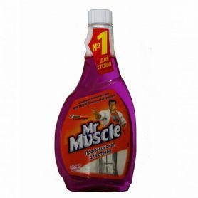 Засіб для миття вікон Мr. Muscle змінний (синій) 500мл