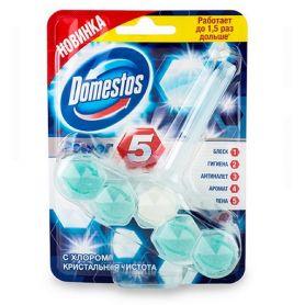 Засіб для унітазу Domestos блок для чищення (1шт підвіс,5шт кульок)
